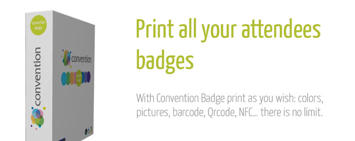 Solution Convention Badge - Event badge template